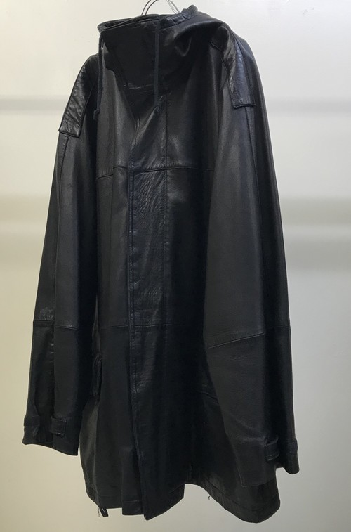 1980s GIANNI VERSACE OVERSIZED LEATHER PARKA