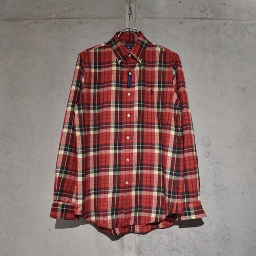 POLO RALPH LAUREN CLASSIC FIT FLANNEL CHECK SHIRT / RED