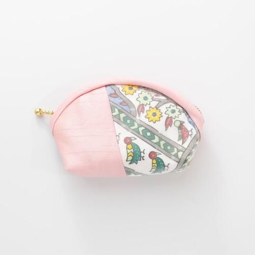 古典柄の丸ミニポーチ       Round zip pouch(Classic pattern)