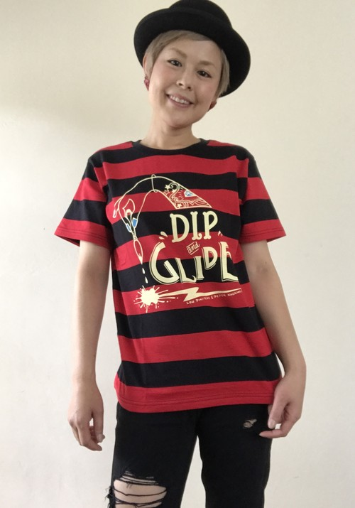 DIP&GLIDE ボーダーTシャツ