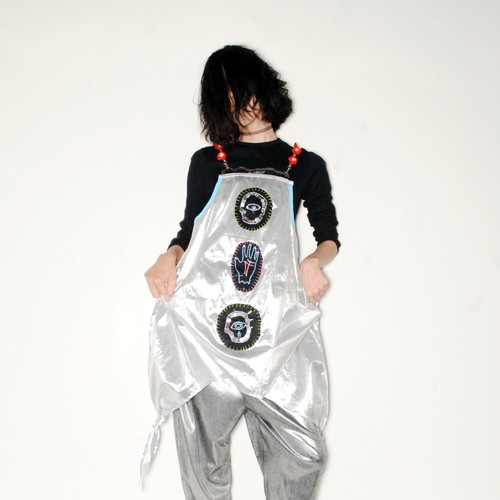 『MOONZONE』 1off psychedelic metal dress