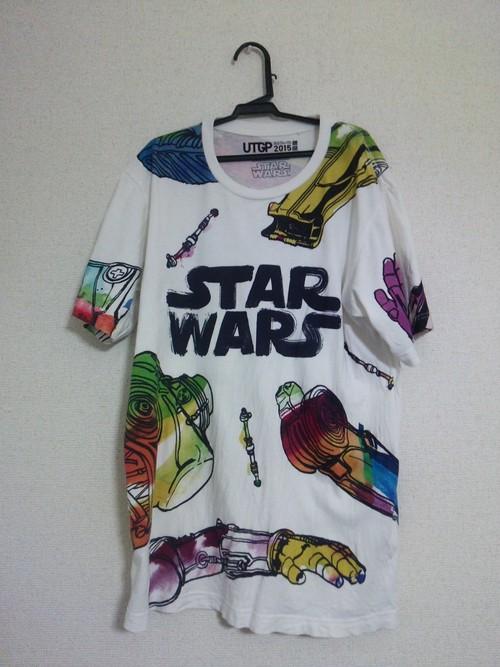 ユニクロ2015年Tシャツ(古着)Lサイズ