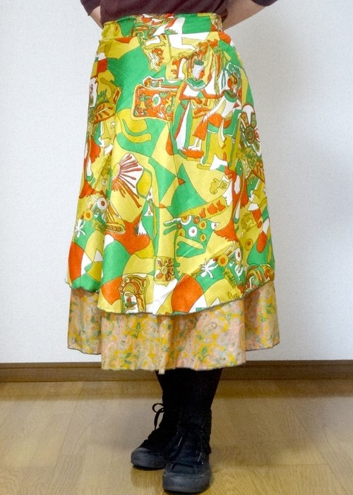dss-017 シルクサリー巻きスカートショート