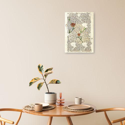 素敵なアートパネル A4サイズ ガーデンチューリップ ウィリアム・モリス