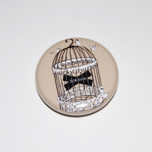 Birdcage Button Badges
