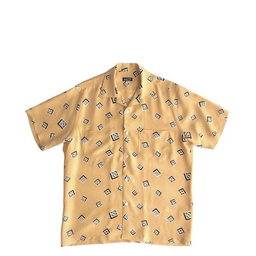Mountainオリジナル 半袖アロハシャツ / OKINAWA BLOCKS