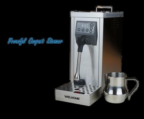 WPM Milk Steamer MS-130T [パワフル小型自動スチーマー] ミルクピッチャー・スケール除去剤セット 国内正規代理店お取り寄せ