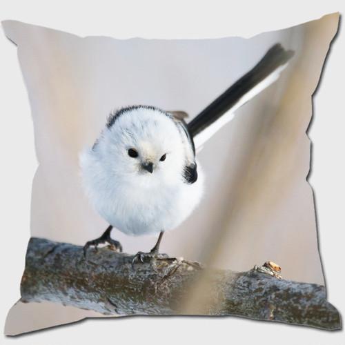 《癒やしの小鳥》シマエナガのオリジナルクッション【送料無料】