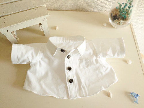シャツ職人によるダッフィーの手作りシャツ 白