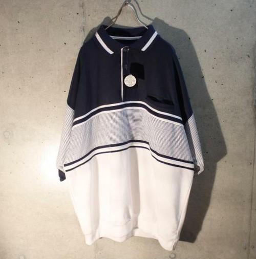 00s~ Van Heusen Dead Stock Short Sleeve Riv Polo Shirt