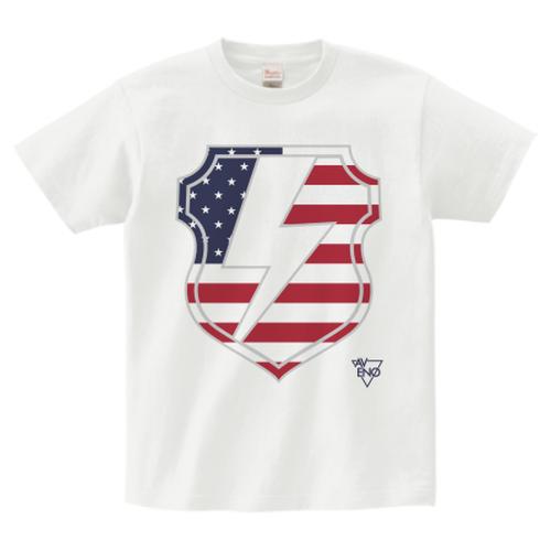 avenomix / THUNDER EMBLEM T-SHIRT WHITE x USA