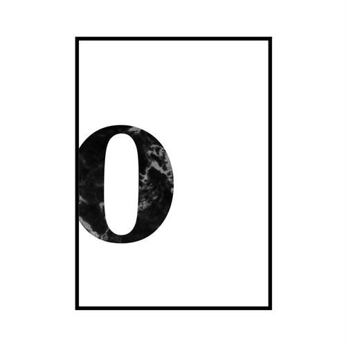 """""""o"""" 黒大理石 - Black marble - ALPHAシリーズ [SD-000542] A4サイズ ポスター単品"""