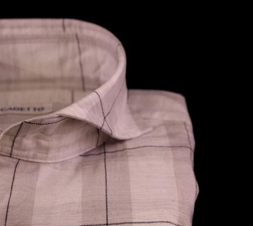 CADETTO ORIGINALS SHIRTS Grey×Navy Check