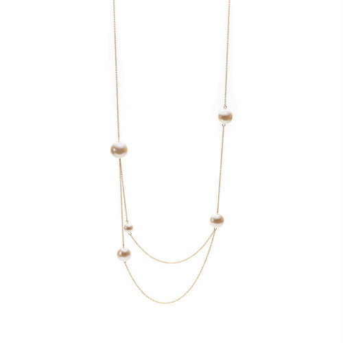 Random Pearl Double Necklace