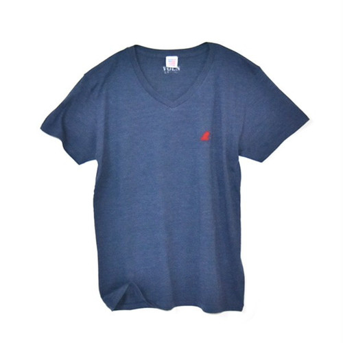 RedFin V Neck Tee Fether Navy