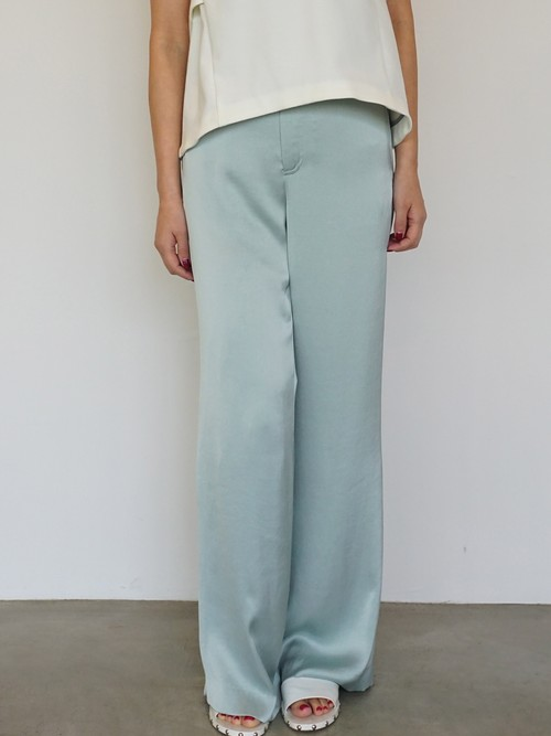 Vintage Satin Wide Pants / PALE GREEN