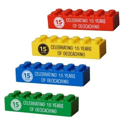 【4個セット】15周年記念レゴブロック型トラベルバグ