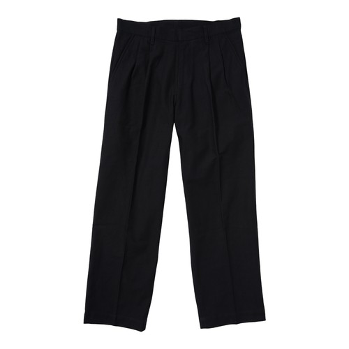 PLEATED WORK PANT(BLACK)[TH8A-081]