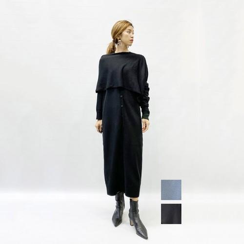 RIM.ARK(リムアーク) Cross arrange long knit OP 2020春物新作 [送料無料]
