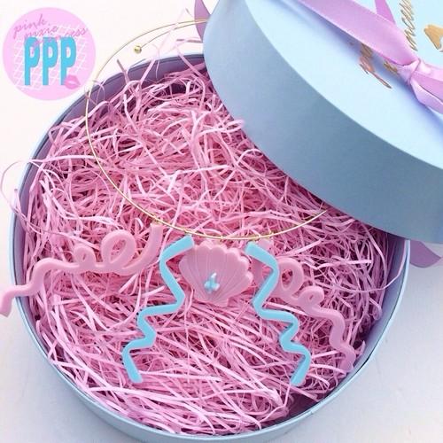 ●PPP● Mermaid Ribbon チョーカー / milky pink × milky blue
