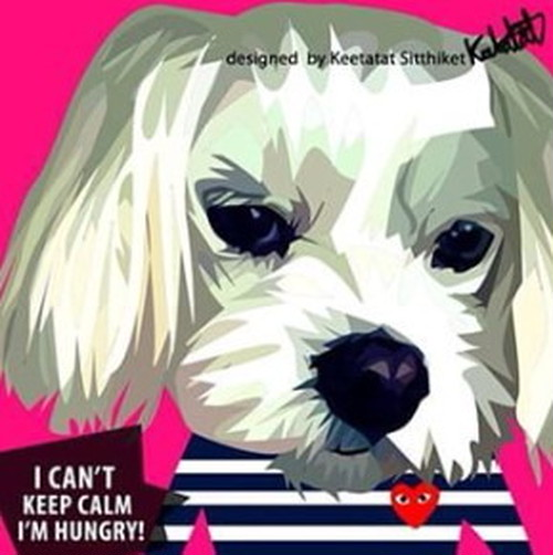 I CAN'T KEEP CALM I'M HUNGRY ポップアートパネル 26×26cm