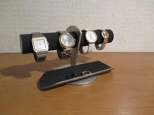 ブラックトレイ付き4本掛け腕時計ディスプレイスタンド  受注販売  181111
