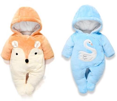 80223f6dca757 棉服ダウンオールインワン 冬ロンパース 赤ちゃん 子供服 ベビー服 1634