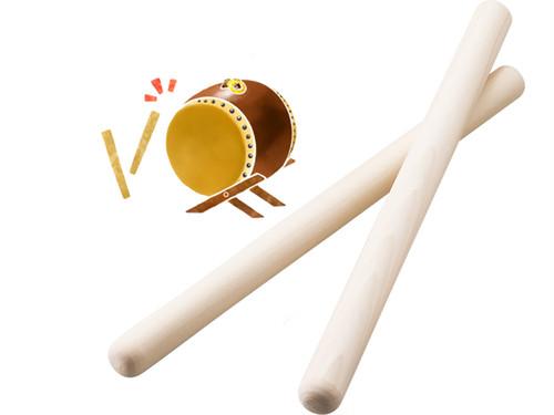 ホオノキの太鼓バチ 3Φ×33cm(2本組)大人におすすめサイズです!
