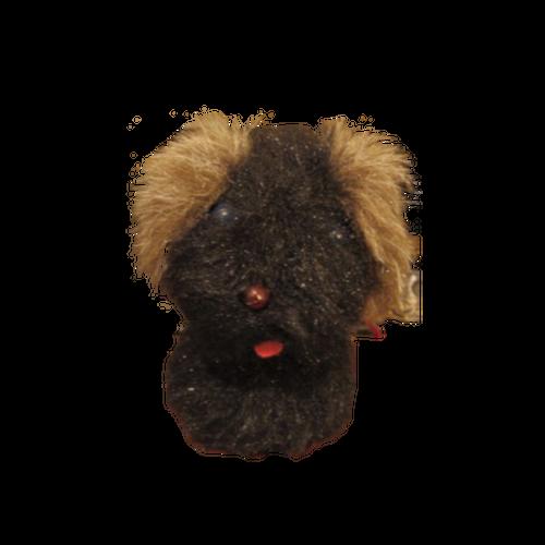 黒い犬のぬいぐるみ風置き物 ヴィンテージ