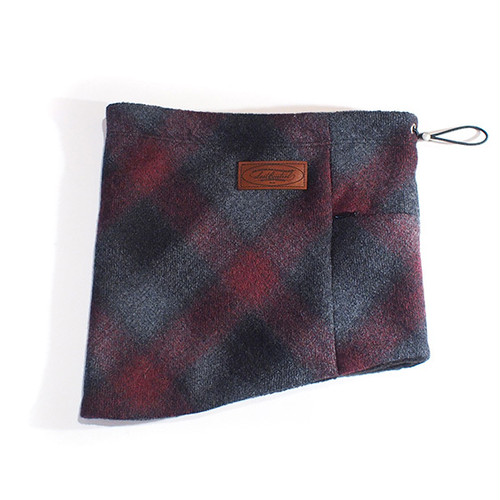 OMBRE CHECK NECK WARMER (BLACK×RED) / LOST CONTROL