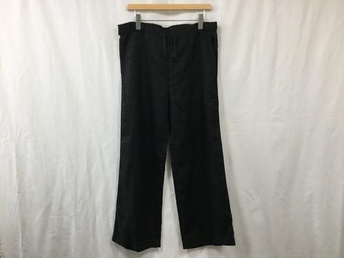 "Women'sAUGUSTE-PRESENTATION Pajama Look ワイドパンツ BLACK"""