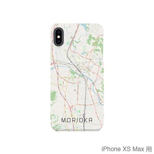 【盛岡】地図柄iPhoneケース(バックカバータイプ・ナチュラル)