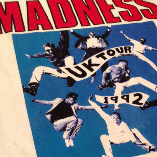 """Vintage 90s MADNESS """" MADSTOCK ! """" UK Tour L/S Tee"""