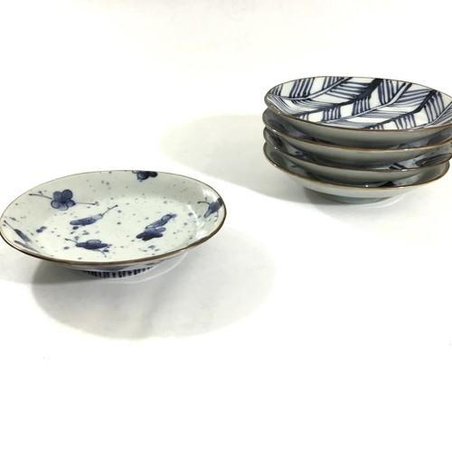 梅チラシ楕円高台皿
