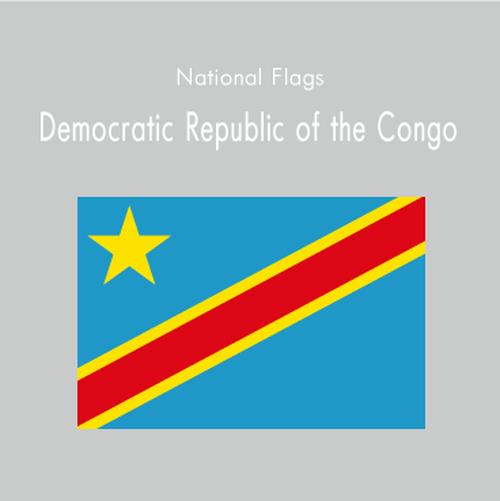 国旗ステッカー コンゴ民主共和国