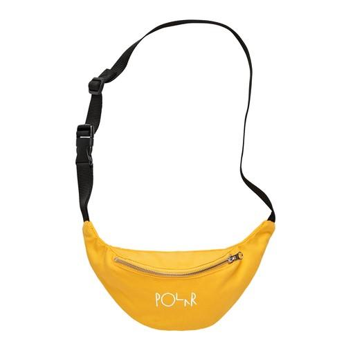 POLAR SKATE CO.  Script Logo Hipbag yellow ポーラー バッグ
