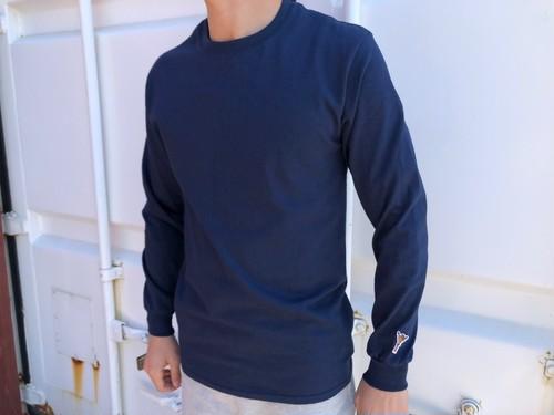 alohaサインone point ロングTシャツ(navy)