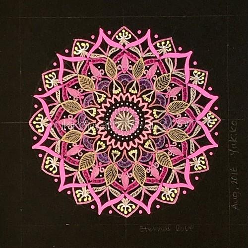 曼荼羅アート「永遠の愛」(デジタル画像)