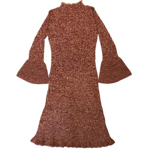 mix yarn knit one piece / red mix