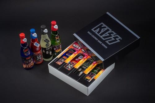 KISS「ロックレジェンズ酒シリーズ」4本セット 第1弾 オリジナルBOX付