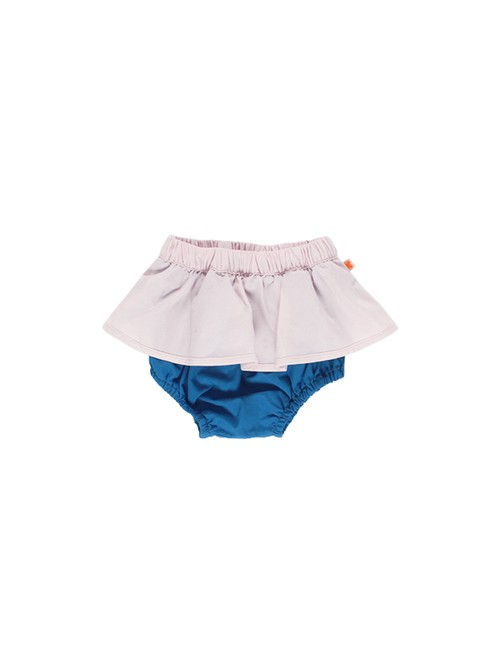 tinycottons / color block bloomer[PALE PINK×BLUE]