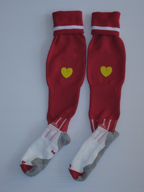 1 LINE SOCKS RED