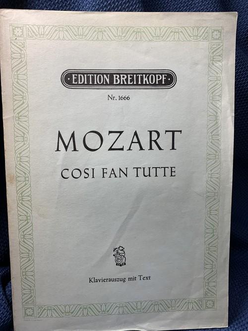 Cosi fan tutte 【作曲:Mozart】edition Breitkopf Nr.1666 Klavierauszug mit Text