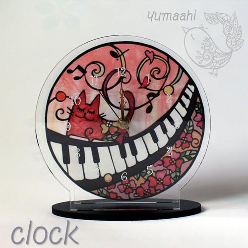 ねこの置時計「猫の音楽祭」