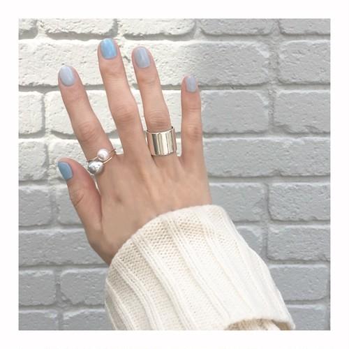 ■spot pearl ring -gray-■ スポットパールリング グレー