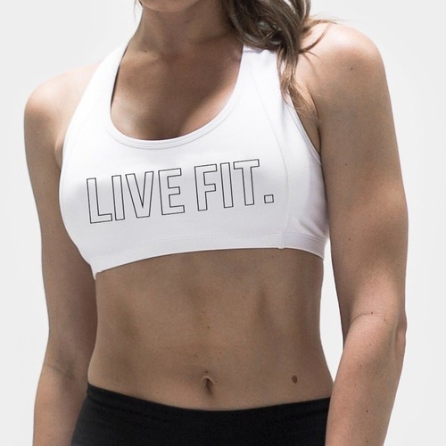 LIVE FIT Outline Sports Bra- White