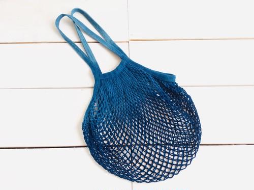 藍染CottonメッシュBag
