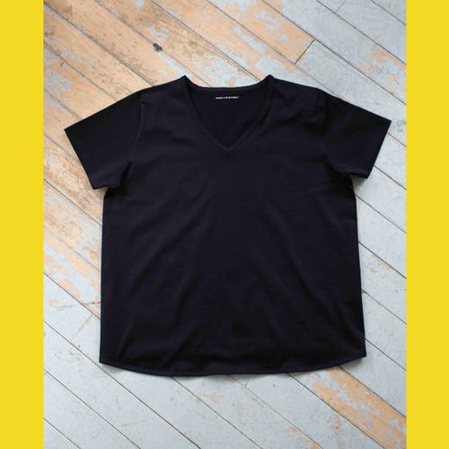 【NEW ITEM】フロントオーバーラップTシャツ  BLACK