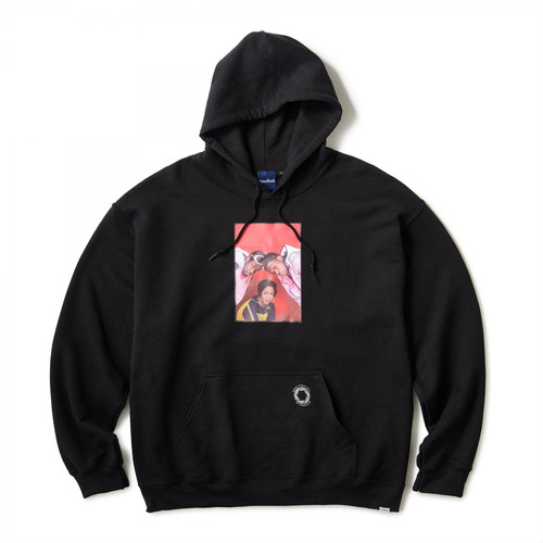 INTERBREED × ERNIE PANICCIOLI The Fugees '93 Hoodie BLACK