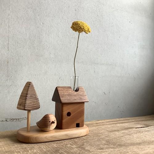 植物の家+庭+スギノコトリ セット 一輪挿し
